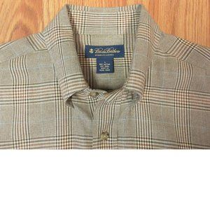 BROOKS BROTHERS REGULAR FIT FIT COTTON/WOOL SHIRT